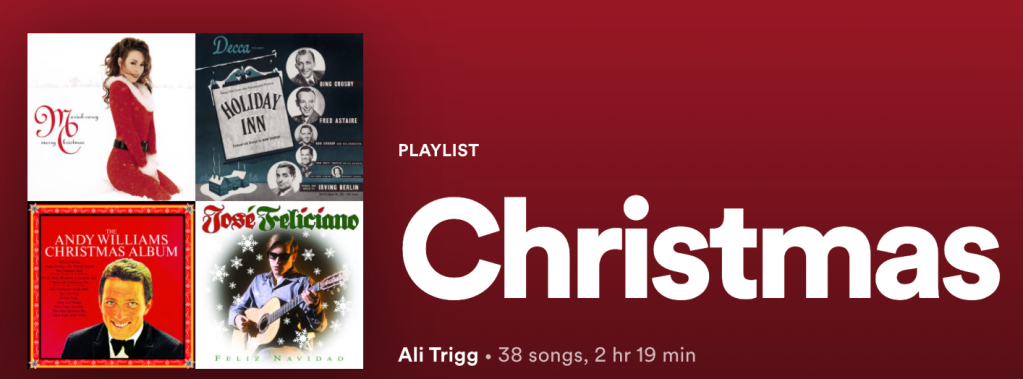 Spotify playlist Christmas music